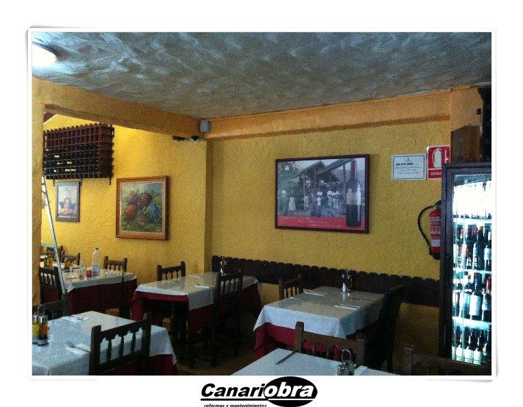 Pintura Restaurante Playa del Ingles