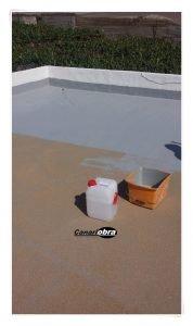 Impermeabilización de cubierta con poliuretano