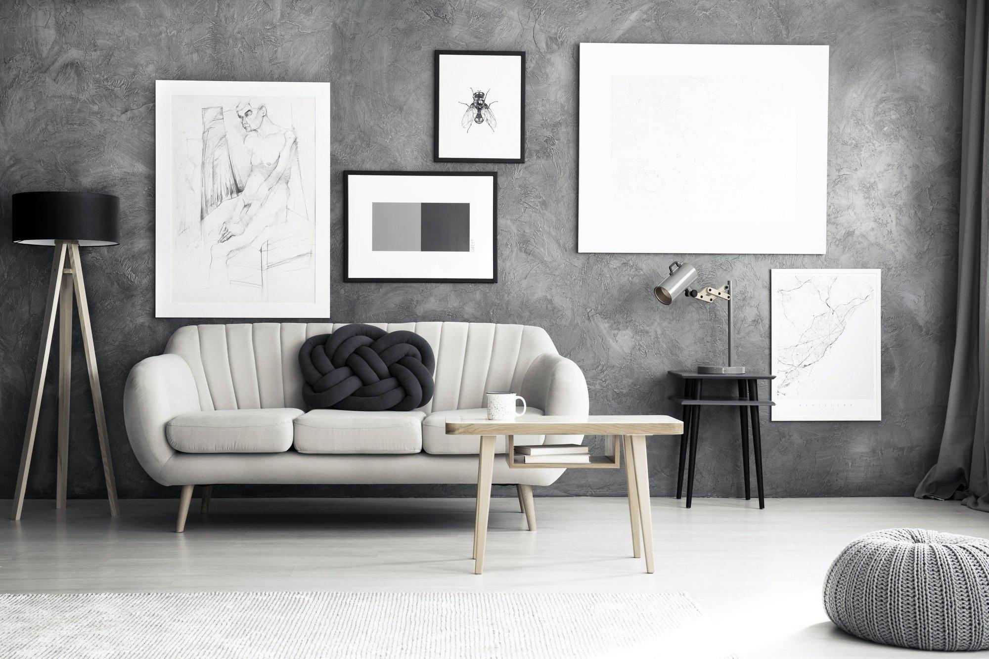 Reformas Pisos Interior de la sala de estar moderna
