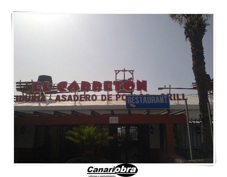 Reforma restaurante Playa del Ingles con nuestros servicios reformas integrales.